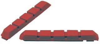Fékpofa gumi   V-fékhez cserélhető piros 72mm MTB